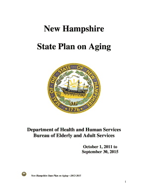 New Hampshire State Plan on Aging - dhhs nh
