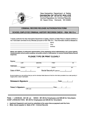 new hampshire department of safety division of state police form