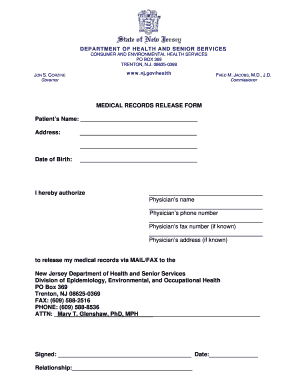 fillable medical records release form - Medical Records Release Form