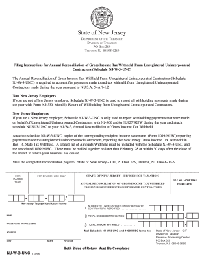 Form Nj W 3 - Fill Online, Printable, Fillable, Blank | PDFfiller