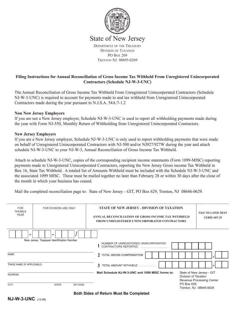 1099 form nj  Njw9 - Fill Online, Printable, Fillable, Blank | PDFfiller
