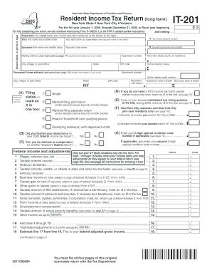 form it 201 instructions