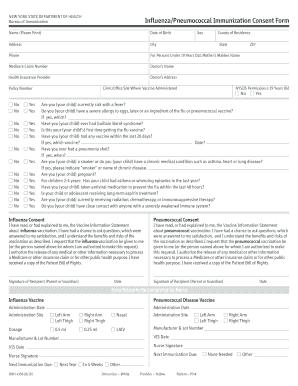 INFLUENZA IMMUNIZATION CONSENT FORM