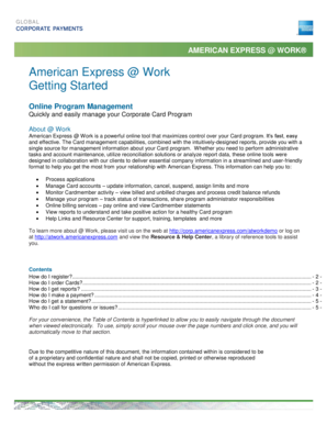 Quick Start Guide - American Express