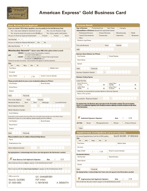 american express application form pdf