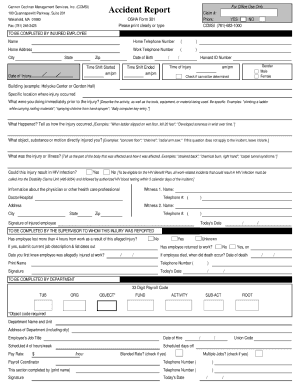 Osha Form 301 Fillable - Fill Online, Printable, Fillable, Blank ...