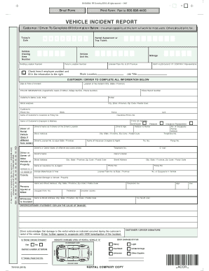 vehicle incident report form