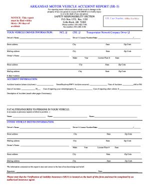 Arkansas Motor Vehicle Report - Fill Online, Printable, Fillable ...