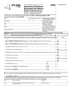 Fillable Online Tax Ny Form Pt 200 5 06 Quarterly