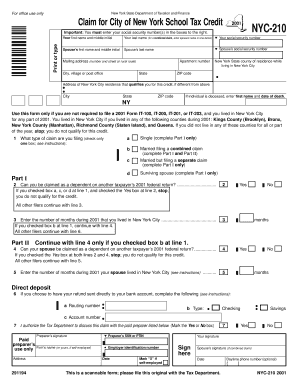 Fillable Form Nyc 210 2011 - Fill Online, Printable, Fillable ...