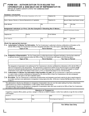 Bill Of Sale Form North Dakota Tax Power Of Attorney Form ...