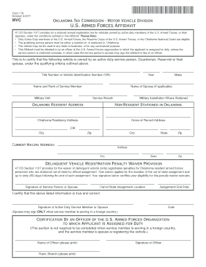 oklahoma armed forces affidavit printable form