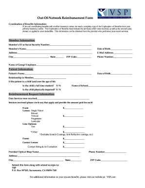 Vsp Reimbursement Form 2012 - Fill Online, Printable, Fillable ...