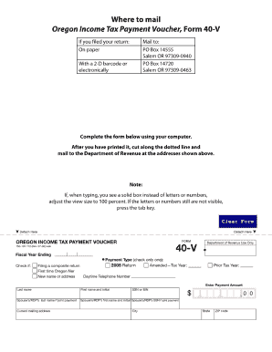 Oregon Form 40 V 2016 - Fill Online, Printable, Fillable, Blank ...