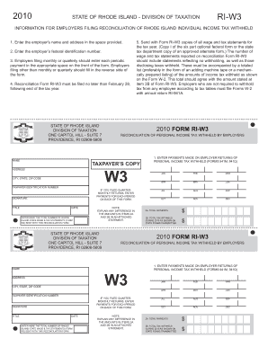 2010 W3 Fillable - Fill Online, Printable, Fillable, Blank ...