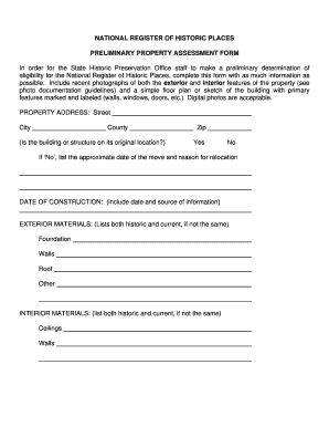 south dakota shpo assessment form