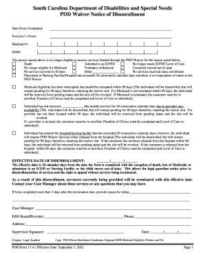 Sc Medicaid Disenrollment Form - Fill Online, Printable, Fillable ...