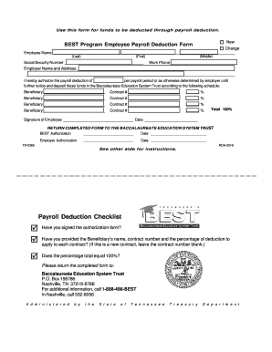 blank employee payroll deduction consent form