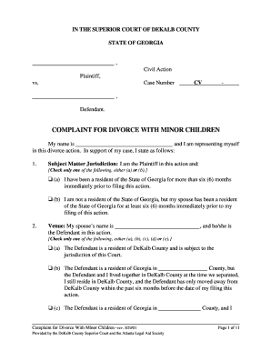 graphic regarding Printable Divorce Papers for Georgia identified as Peion For Divorce Georgia - Fill On the web, Printable, Fillable