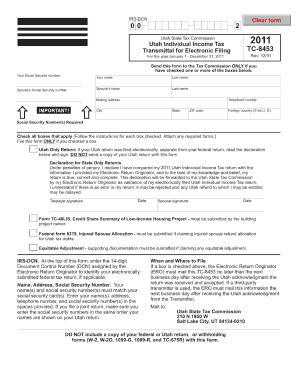 Tc 8453 Form Utah - Fill Online, Printable, Fillable, Blank ...