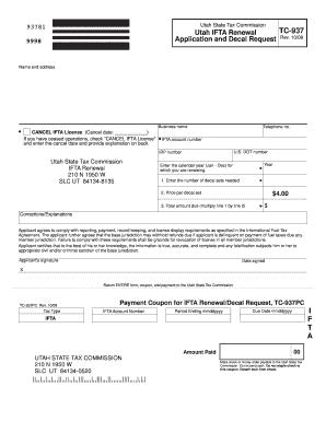 Utah ifta renewal fill online printable fillable for Motor carrier permit renewal application