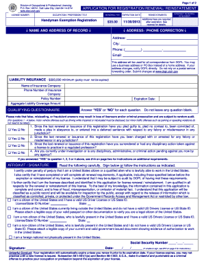 renewal application realestate and business sales registration wa