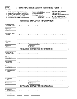 w2 form utah 2008 Form UT DWS-UI 6 Fill Online, Printable, Fillable, Blank ...