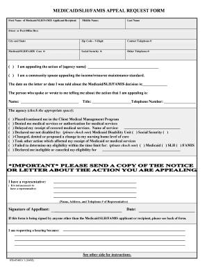 Slh Medicaid - Fill Online, Printable, Fillable, Blank   PDFfiller