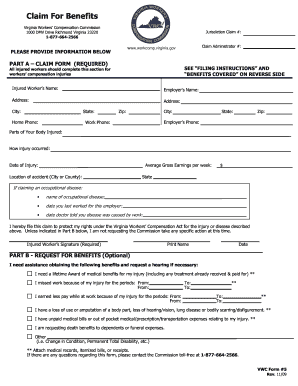 Www Workcomp Virginia Gov - Fill Online, Printable ...