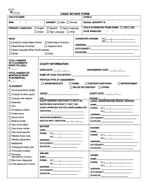 Criminal Intake Form - Fill Online, Printable, Fillable, Blank ...