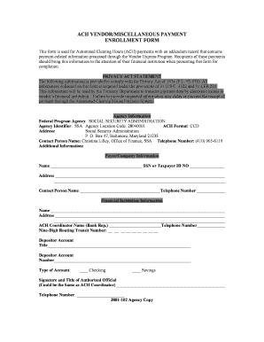 Va Ach Vendor Enrollment Form - Fill Online, Printable, Fillable ...