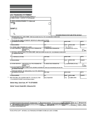 sample ucc financing statement for virginia form