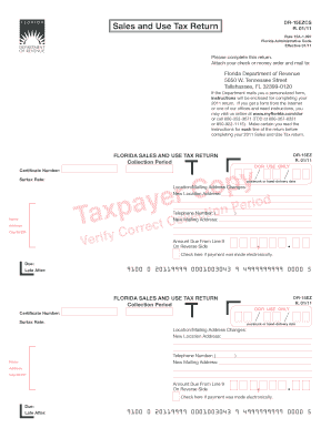 Florida Department Of Revenue Sales Tax Form - Fill Online ...