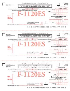 2012 form fl dor f 1120es fill online, printable, fillable