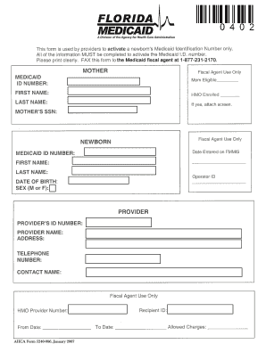 unborn activation form for florida