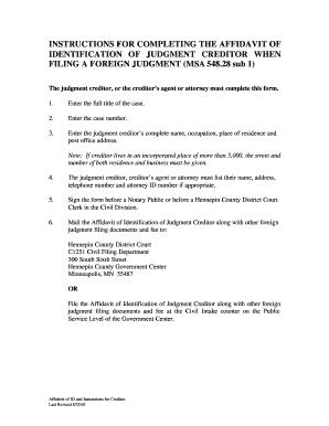 Creditors Affidavit Florida - Fill Online, Printable, Fillable ...