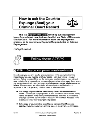 Forms Criminal Expungement In Tx Self Help - Fill Online ...