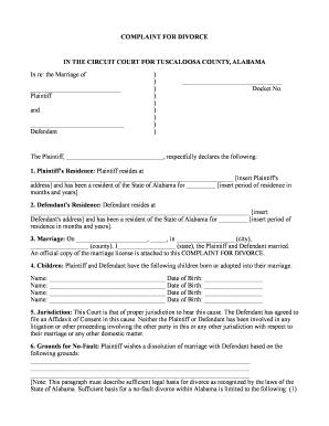 Alabama divorce details