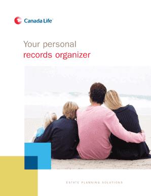 Canada Life Personal Records Organizer