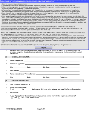 Chubb healthcare portfolio renewal application fillable form