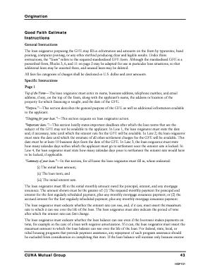 Cuna Good Faith Estimate Form - Fill Online, Printable, Fillable ...