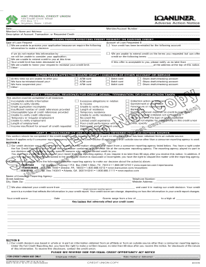 Adverse Action Notice >> Adverse Action Notice Fill Online Printable Fillable