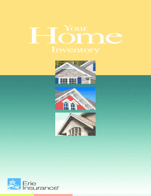 erie home insurance claims inventory form