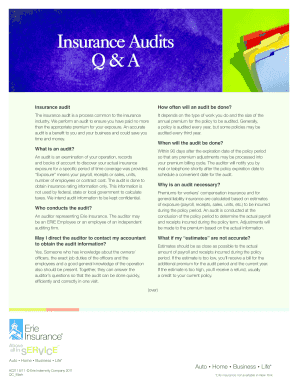 pdfinsurance audits q and a