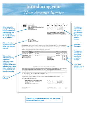 Online fillable invoice form