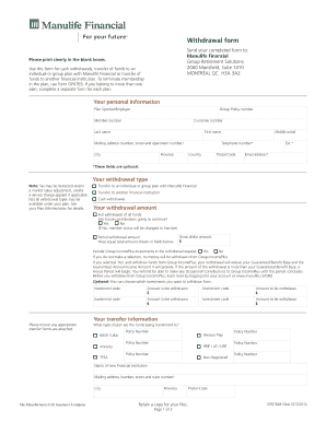 Manulife group rrsp investment options