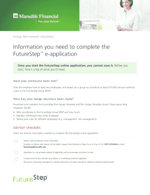 manulife future step design template form