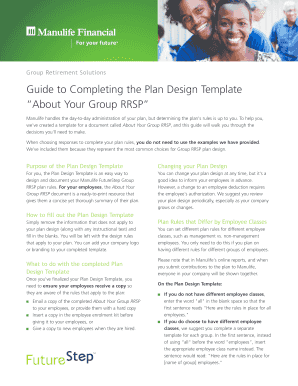 about your group rrsp plan design template manulife form