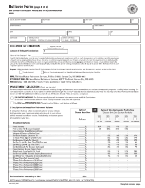 massmutual forms Mass Mutual Rollover Form - Fill Online, Printable, Fillable, Blank ...