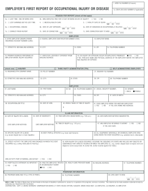 Osha first report of injury fillable form